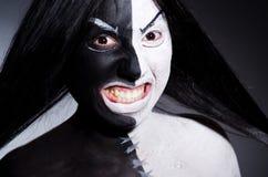 Het concept van Satanhalloween Stock Foto's
