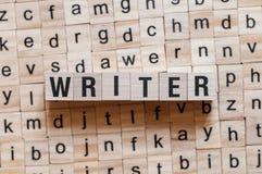 Het concept van het schrijverswoord royalty-vrije stock afbeeldingen