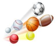 Het concept van sportenballen Royalty-vrije Stock Afbeelding