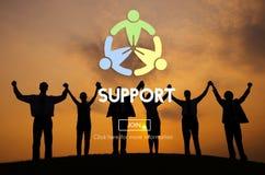 Het Concept van steunteam collaboration assistance help motivation royalty-vrije stock foto's