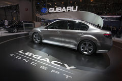 Het Concept van Subaru Legacy - de Show van de Motor van Genève van 2009 Royalty-vrije Stock Foto's