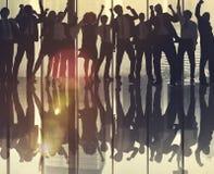 Het Concept van succesteam teamwork business coworker occupation Stock Afbeeldingen