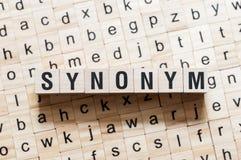 Het concept van het synoniemwoord royalty-vrije stock foto
