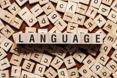 Het concept van het taalwoord stock fotografie