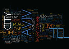 Het Concept van tel. Aviv Text Background Word Cloud stock illustratie