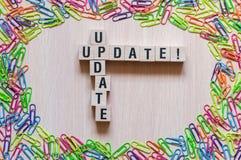 Het concept van het updatewoord royalty-vrije stock afbeeldingen