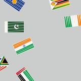 Het concept van veenmolsporten met vlaggen Royalty-vrije Stock Foto