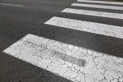 Het Concept van het Verkeersveiligheidszebrapad stock foto's