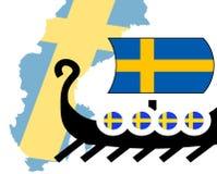 Het concept van Vikingen zweden Royalty-vrije Stock Foto's
