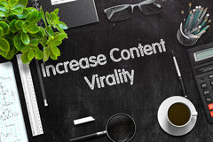 Het Concept van Virality van de verhogingsinhoud 3d geef terug Royalty-vrije Stock Afbeelding