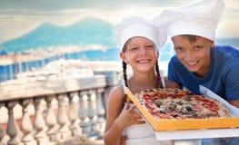 Het concept van het voedsel Pizza stock fotografie