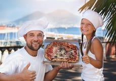 Het concept van het voedsel Pizza royalty-vrije stock foto's
