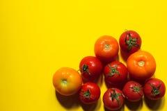 Het concept van het voedsel Rode tomaten Royalty-vrije Stock Foto's