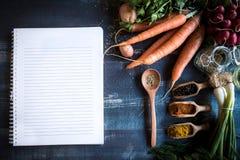 Het concept van voedselrecepten Royalty-vrije Stock Foto's
