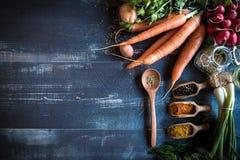 Het concept van voedselrecepten Stock Foto's