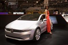 Het concept van Volkswagen van Giugiaro - Genève 2011 Stock Fotografie