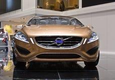 Het Concept van Volvo S60 in Genève motorshow Stock Afbeeldingen