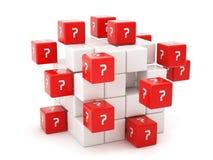 Het concept van vragen Royalty-vrije Stock Afbeelding