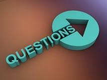 Het concept van vragen stock illustratie