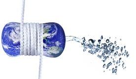Het concept van Waterwaste Stock Afbeelding