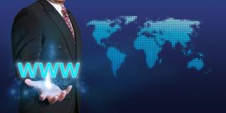 Het Concept van Webinternet Stock Foto