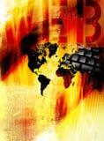 Het Concept van World Wide Web stock illustratie