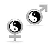 Het concept van Yin yang Stock Afbeeldingen