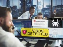 Het Concept van zakenmanworking security warning stock afbeeldingen