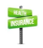 Het concept van ziektekostenverzekeringverkeersteken Stock Afbeeldingen