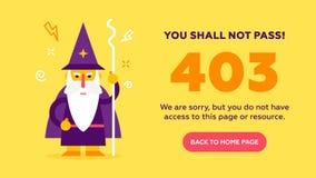 Het concept 403 verboden toegang royalty-vrije illustratie