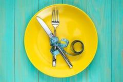 Het concept verhongering of dieet royalty-vrije stock afbeeldingen
