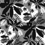 Het concept verspreidde tropisch bladeren naadloos patroon vector illustratie