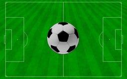 Het concept voetbal aan de achtergrond. Royalty-vrije Stock Afbeelding