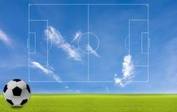 Het concept voetbal aan de achtergrond. Royalty-vrije Stock Foto's