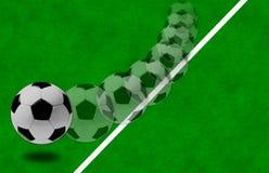 Het concept voetbal aan de achtergrond. Stock Foto's