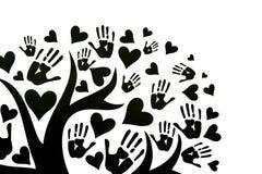 Het concept vrede, eenheid, vriendschap en liefde vector illustratie