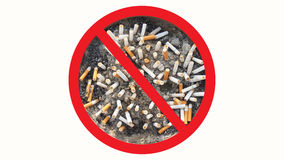Het concept Wereld Geen Tabaksdag in 31 Mei, ophoudt rokend, doet geen rook Royalty-vrije Stock Fotografie