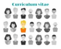 Het concept werkgelegenheid het hoofdjager zoeken De keus van de kandidaat aan het werk van vele mensen Selectie van een kandidaa stock illustratie