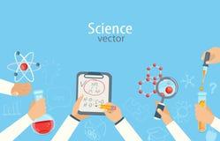 Het concept wetenschap en onderwijs Stock Afbeeldingen
