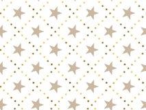 Het concepten naadloos patroon van de luxe abstract ster Stock Foto's
