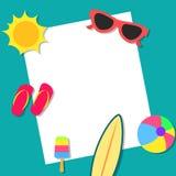 Het concepten van de achtergrond zomervakanties ontwerp Stock Fotografie