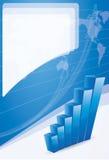 Het concepten van de bedrijfs groei brochureachtergrond Stock Foto's