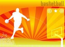 Het concepten van het achtergrond basketbal vector Stock Foto