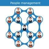 Het concepten vectorillustratie van het mensenbeheer Bureauhiërarchie, personeel, commercieel team vector illustratie