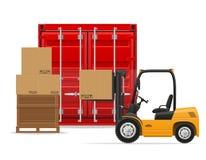 Het concepten vectorillustratie van het vrachtvervoer Stock Foto