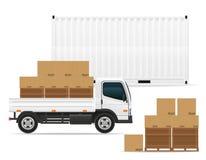 Het concepten vectorillustratie van het vrachtvervoer Stock Fotografie