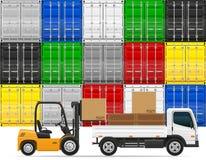 Het concepten vectorillustratie van het vrachtvervoer Stock Foto's