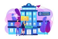 Het concepten vectorillustratie van het levensstijlhotel vector illustratie