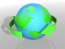 Het conceptenachtergrond van de ecologie Stock Afbeeldingen