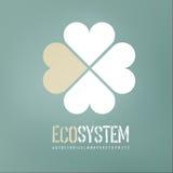 Het conceptenachtergrond van de ecologie stock illustratie